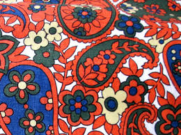 Paisley Home Decor Fabric by Retro Large Print Paisley Fabric Floral Fabric Retro 1960s
