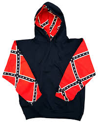 Dixi Flag Confederate Flag Sleeve Pattern Hoodie