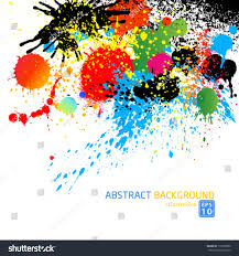 vector colorful paint drops ink splashes stock vector 117039952