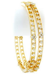 diamond yellow gold bracelet images Indian bangles 4 80ct round shape diamond yellow gold jpg&a