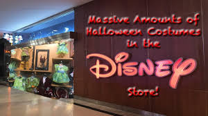 massive amounts of halloween costumes in the disney store youtube
