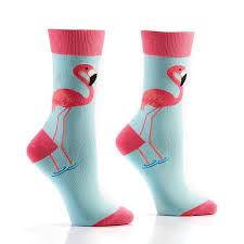 fabulous flamingos s novelty crew socks yo sox usa