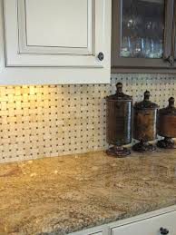 Picture Of Kitchen Backsplash Basketweave Marble Backsplash Rooms I Remodeled Or Decorated
