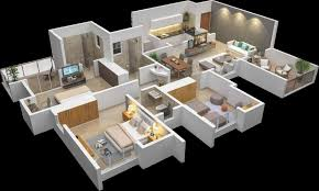 3d House Plan Stunning Modern House Plans Under Sq Ft Pictures D 3d Home Plan