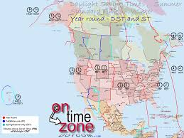 Map Of Time Ontimezone Com Time Zones For The Usa And North America