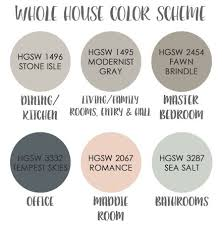whole house color palette a rural urban whole house color scheme home decorating tips