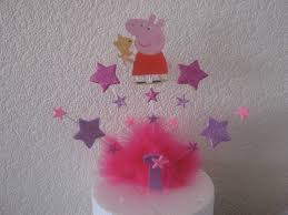 George Pig Cake Decorations Peppa Pig Or George Cake Topper With Your Choice Of Age And