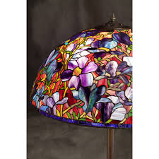 28 inch handmade stained glass magnolia floor lamp shade