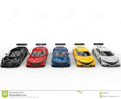 Super Colorful by Modern Super Colorful Sports Concept Cars Stock Illustration