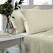 lansfield so soft non iron percale fitted sheet cream