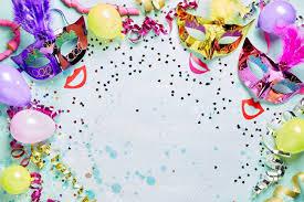 mardi gras picture frame carnival masquerade or mardi gras frame with bright metallic