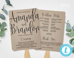 Wedding Program Paddle Fan Template The 25 Best Print Your Own Wedding Programs Ideas On Pinterest