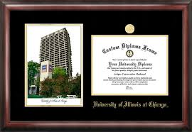 of illinois diploma frame of illinois at chicago uic flames