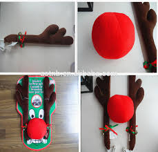 reindeer antlers for car plush rudolf the reindeer antlers and nose car set car dress