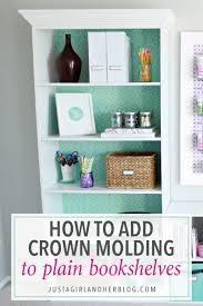 Staples Bookshelves by Fancy Bookshelves With Crown Molding Just A And Her Blog
