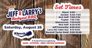 Backyard Comedy Q95 Presents Jeff U0026 Larry U0027s Backyard Bbq Aug 26 2017 Klipsch