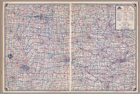 atlas road map road map of iowa david rumsey historical map collection