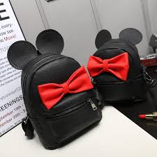 sale disney mickey minnie mouse ears bow medium backpack 3 color