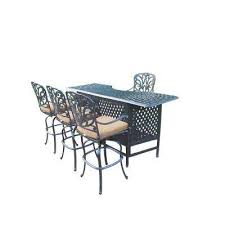 Patio Bar Furniture Set by Patio Bar Sets Outdoor Bar Furniture The Home Depot