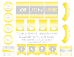 we heart parties free printables you are my sunshine free printables