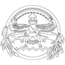 native american mandala coloring page free printable coloring pages
