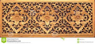wooden arts and crafts thai wood craft in temple isolated white stock