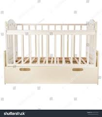 baby bed isolated on white background stock photo 707573230