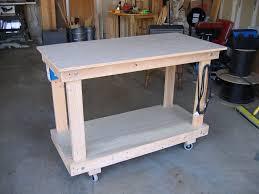 Rolling Shop Workbench By Dkrice Lumberjocks Com Woodworking
