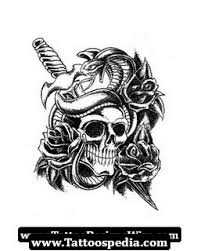 wicked skeleton tattoo sketch photos pictures and sketches