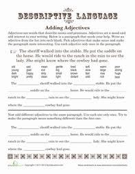 adding adjectives worksheet education com