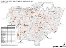 beirut on map mapping constructions in beirut 2000 2013