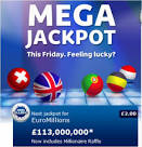 EUROMILLIONS £113000000 Jackpot - buy your tickets online today
