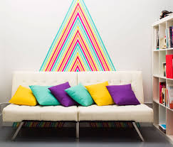 how to diy temporary wallpaper using washi tape via brit co how for the work space make a washi tape wall mural with our tutorial for a colorful home decor hack