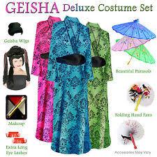Size Halloween Costumes 4x Size Geisha Costume Ebay
