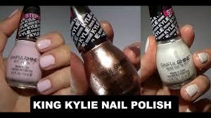 king kylie sinful shine kylie jenner nail polish youtube