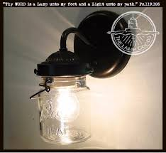 mason jar sconce lighting fixture with vintage pint the lamp goods