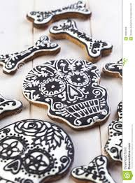 homemade skull cookies for halloween stock photo image 58569438