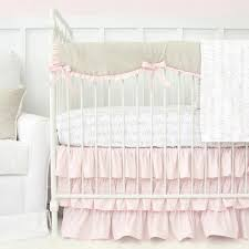 Solid Pink Crib Bedding Pastel Crib Bedding Soft Color Baby Bedding Caden