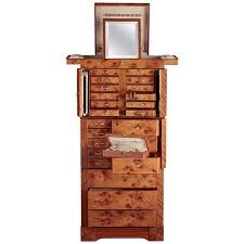 Jewelry Armoire For Sale Agresti Contemporary Jewelry Armoire Safe In Elm Briar And
