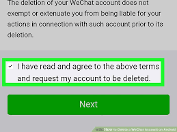 delete account android how to delete a wechat account on android 15 steps