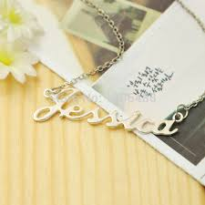 Customized Necklace Aliexpress Com Buy Personalized Name Necklace Silver