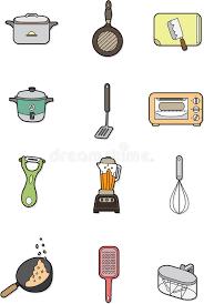 cuisine dessin animé élément de cuisine de dessin animé illustration de vecteur