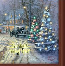 thomas kinkade lighted pictures thomas kinkade a holiday gathering lighted canvas print