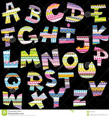 decorative letters stock vector image 40711104