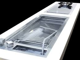 Shallow Prep Sink From Glem With A Cascading Water Jet - Kitchen prep sinks