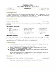 Sample Freelance Resume by One Page Resume Examples Resume Example