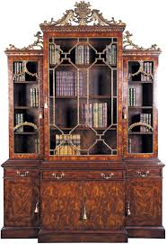 Chinoiserie Secretary Desk by Chippendale Style Bookcase Glazed Bookcases U0026 Display Cabinets