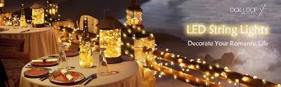 string lights oak leaf 9 8 ft 30 leds starry fairy lights