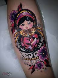 diamond tattoo neo traditional matryoshka tattoo neo traditional dark girly red gold