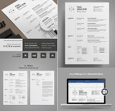 Free Modern Resume Templates Word 20 Professional Ms Word Resume Templates With Simple Designs